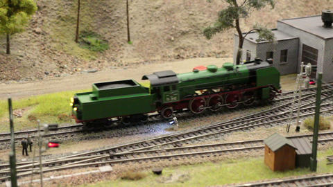 model an old steam locomotive Footage