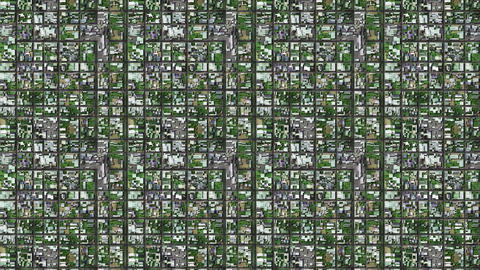 4K Satellite Surveillance in Suburban Area 1 clean Animation