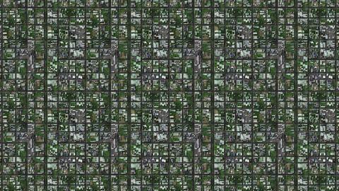 4K Satellite View of Suburban Area 1 Animation