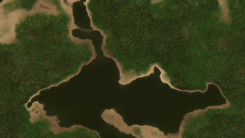 4K Satellite View of Wild Nature Area 1 Animation