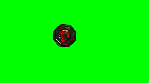 4K UFO Top View Greenscreen 1 Animation