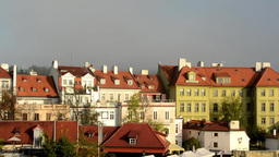 city - urban vintage buildings - sunrise - roofs of buildings - sky Footage
