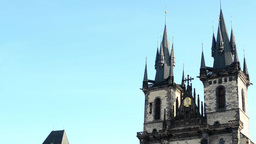 vintage religion building - Church of Our Lady before Týn Footage