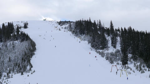 Ski slope with chairlift Live Action