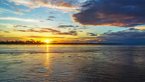 Amazon River Sunset Footage