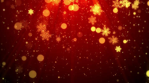 Christmas background (red theme) with snowflakes, shiny lights in stylish and Animación