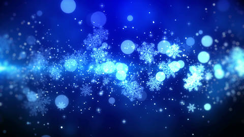 Blue Christmas backgroundwith snowflake lights in stylish and elegant, looped Animation