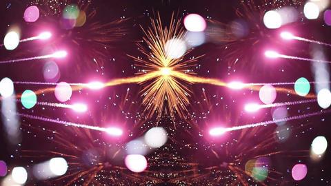 Firework collisions Footage