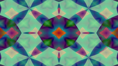 Forms patterns and colors merge and pulse kaleidoscopically loop Footage