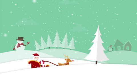Christmas Background CG動画