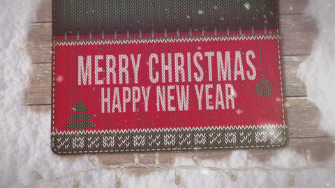 Christmas Wooly Greetings Stock Video Footage