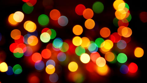 Multicolored defocused blurred lights background Footage