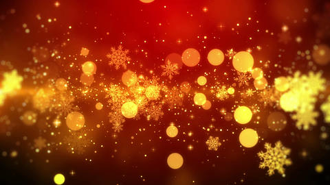 Red Christmas background with snowflake lights in stylish and elegant, looped Animation