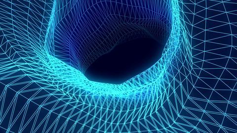 Wireframe vortex Footage