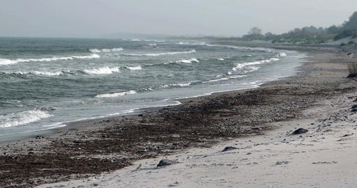 Surge of the Baltic Sea in Germany ビデオ