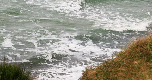 Surge of the Baltic Sea in Germany Archivo
