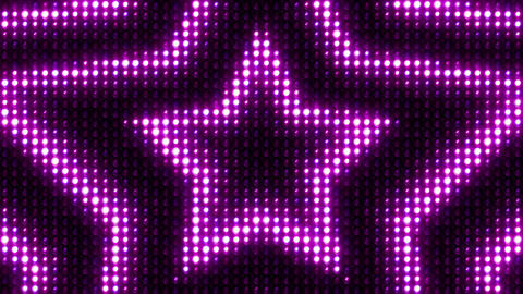 Lights Flashing Wall Vj Loop Star Glow Purple Image