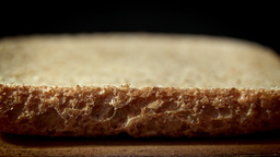 Slices of stacked bread close up HD stock footage Footage