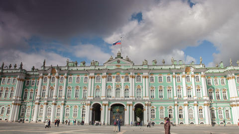 Hermitage Saint Petersburg Timelapse 4K Footage