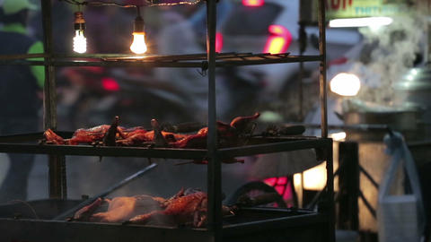 Vietnam, Hanoi - 10 March 2015: Street food in Asia Footage