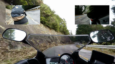Motorcycle tank view timelapse compilation:timelapse Footage