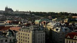 city (Prague) - urban buildings - roofs of buildings - Prague Castle (Hradcany)  Footage