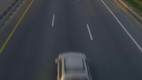 4K Ungraded: Highway Road / Highway Traffic / Passenger Cars Footage