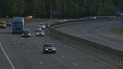 4K Ungraded: Highway Road / Highway Traffic / Highway Wide Shot Footage