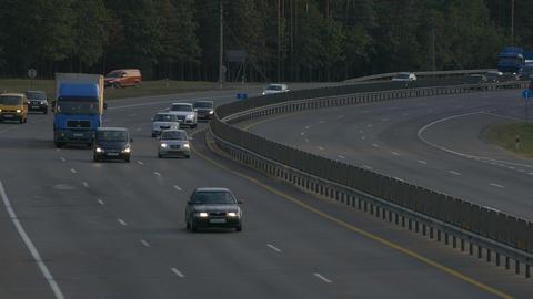 4K Ungraded: Highway Road / Highway Traffic / Highway Wide Shot Footage