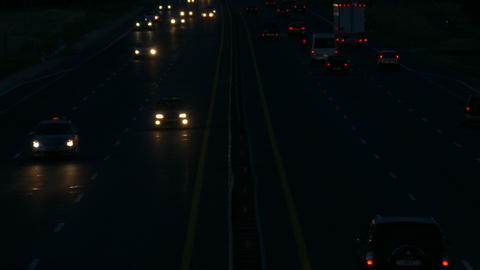 4K Ungraded: Highway at Night / Highway Road / Highway Traffic Live Action