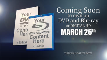 Coming to DVD and Bluray After Effects Project
