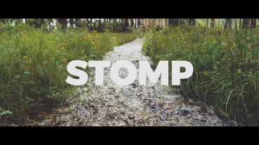 Opener Stomp Typography Promo Premiere Pro Template