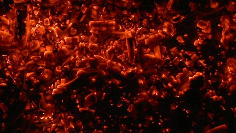 Close up of burning coals Footage