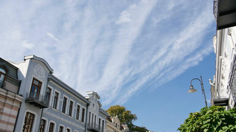 4K Timelapse video of old historic building in center of the city and clouds Footage