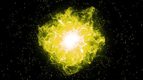 Big bang, big blue explosion in the space. Big bang,... Stock Video Footage