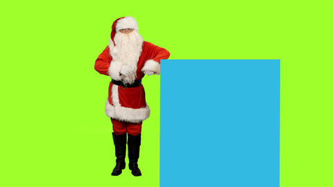 Santa Claus on green screen and blue screen for your text or animations Image