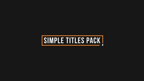 Simple Minimal Titles Premiere Pro Template