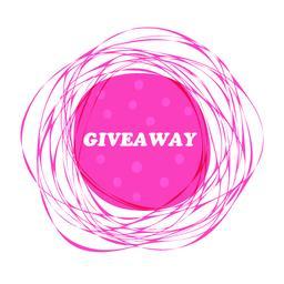 Giveaway. Vector pink frame, banner Vector