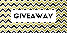 Giveaway. Vector banner with chevron pattern ベクター
