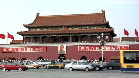 Traffic on Tiananmen Square Footage