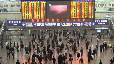 Departure Hall of the Beijing West Railway Station Live Action