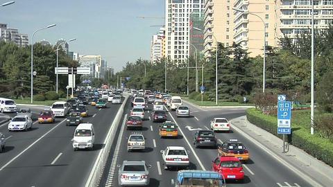 Afternoon Traffic on Chaoyangmen Daji Footage