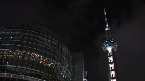 Oriental Pearl TV Tower and the Restaurant and Sky Lounge…, Live Action