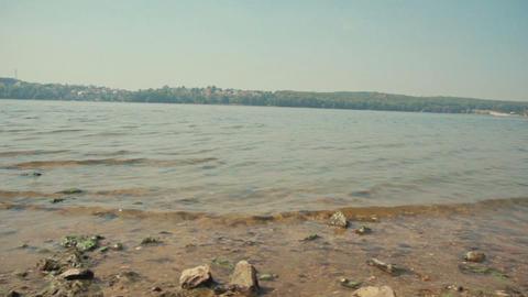 Beautiful lake and wonderful movement of slider Footage