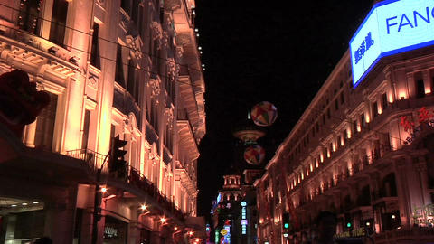 Well lit Buildings on Nanjing Road East Live Action
