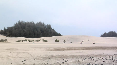 Off Highway Vehicles at the Umpqua Sand Dunes, Winchester Bay, Oregon Footage