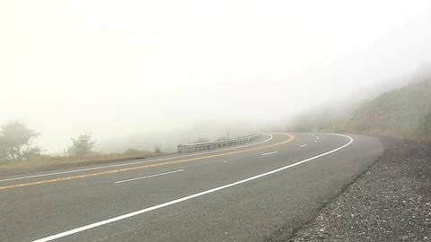 Fog on the 101 Highway in Oregon Live Action