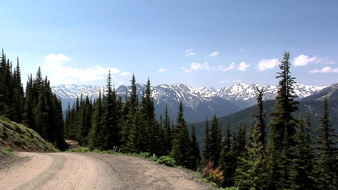 Olympic Mountain Range view from Deer Park of the Olympic National Park, Washing Footage