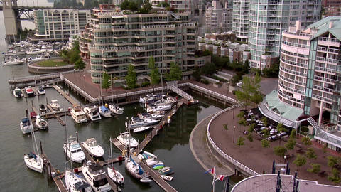 "Owners of Boats ""park"" them in front of their Apartment in Vancouver late Aftern Live Action"