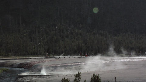 Geysers at Yellow Stone National Park, Wyoming Live Action